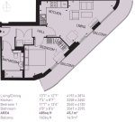 Floorplan of Da Vinci Torre, 77 Loampit Vale, Lewisham, London, SE13 7FA