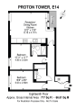Floorplan of Proton Tower, 8 Blackwall Way, Docklands, London, E14 9GP